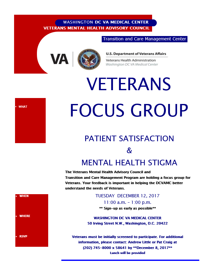 focus group for veterans mental health advisory council